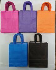 More details for twist handle paper carrier bags block bottom - various colours x25