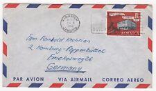 1962 JAMAICA Air Mail Cover KINGSTON - HAMBURG POPPENBÜTTEL GERMANY Slogan SG195