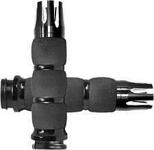 Avon AIR-90-AN-FL-CA Air Cushioned Anodized Castle Grips Black (Fly By Wire)