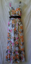 W Lane Size 12 Maxi Dress NEW Crinkle Chiffon Floral Party Casual Evening Event