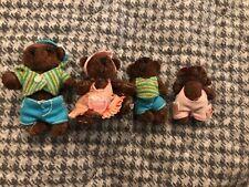 Furryville 4 Bear Family Jointed Plush mini Dollhouse Pretend Play FV41 FV42 43