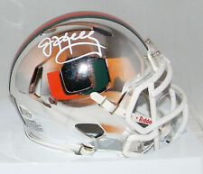 Jim Kelly Autographed Signed Miami Hurricanes Chrome Speed Mini Helmet Beckett