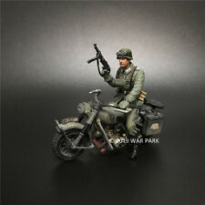 WAR PARK MINIATURES 1:30 WW2 GERMAN KU010 PANZERGRENADIER BMW MOTORCYCLE WITH 1