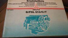 Ersatzteilliste Spare Parts Catalog Deutz B/F6L 913/C/T 297 4221