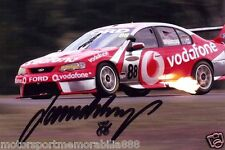 Jamie Whincup SIGNED 6x4 PHOTO PRINT V8 Supercars FORD Vodafone FAST POSTAGE