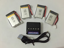 4pcs Syma X5C X5C-1 X5A RC Battery 3.7V 680mAh 20C + 5in1 Lipo Battery Charger