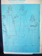 Vintage Simplicity Pattern 5977 Palazzo Pants Maxi Skirt Top Size 14 UC/NOS 1970