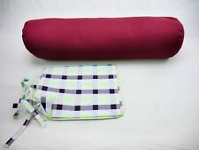 RED BOLSTER - BUCKWHEAT FILLED. UK SELLER. GREAT BARGAIN! FREE COVER & P&P!