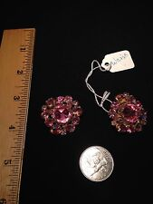 SIGNED Weiss Vintage Rhinestone Earrings Set
