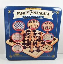 Family 7 + Mancala - 8 Classic Board games Solid Wood Boards Excellent Condition