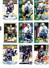 NHL/DEL Trading Cards---9 unterschriebene Cards der München Barons