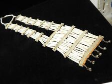 Vintage Blackfeet Child'S Breastplate - Dentalium Brass Bells Beads Abalone Hide