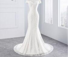 White or ivory sparkly lace mermaid wedding dress sizes 2-20W