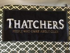 Thatcher's Uk Cider Beer Bar Towel Mop, All Cotton, New / Unused