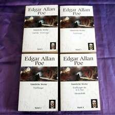 Edgar Allan Poe 4 Bände sämtliche Werke Erzählungen Gedichte Literaturkritik
