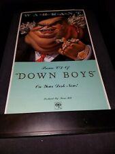 Warrant Down Boys Rare Original Radio Promo Poster Ad Framed! #2