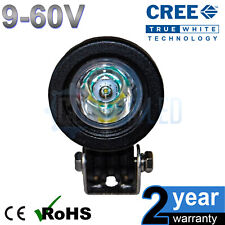 24v 10w Cree Round LED Spot Working Work Light Tractor Boat HGV Reverse Bike