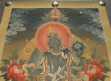 Altes Masterpiece THANGKA aus Nepal: Grüne TARA! 67x51cm NATURFARBEN