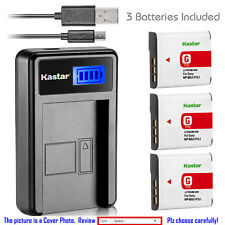 Kastar Battery LCD Charger for Sony NP-BG1 NPBG1 Sony Cyber-shot DSC-W115 Camera