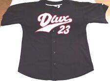 D-Lux baseball jersey men sz L vintage 90s hip-hop rap vtg black/red 23