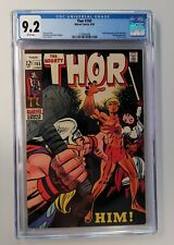 Thor 165 CGC 9.2 WHITE PAGES - UNPRESSED -  1st Appearance Of Adam Warlock