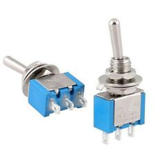 5Pcs OFF-ON Mini Latching Toggle Switch SPDT AC 125V/6A 250V/3A 3 Pin 2 Position
