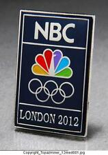 OLYMPIC PINS 2012 LONDON ENGLAND SPONSOR NBC MEDIA TELEVISION LOGO