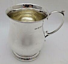 Vintage Solid Sterling Silver Baluster  Shaped Tankard B'Ham 1926
