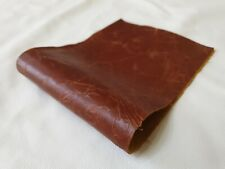 """Tan Vintage  Aged 14""""x5.5""""  1 piece of 100% leather offcuts craft patch Repair"""