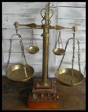 ANCIENNE BALANCE D'APOTHICAIRE style XIXe art populaire pharmacie justice poids