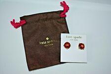 Kate Spade Rose Pink Large Gumdrop Stud Rhinestone Earrings EUC Dustbag