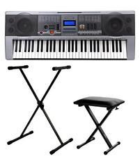 Professionnel de 61 Touches Clavier E-PIANO 100 SONS & RYTHMES USB Stand Bench Set