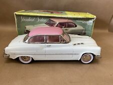 Vintage 1970s Pink and White Friction Standard Sedan Car Voiture with box