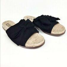 Womens Sam & Libby Nevada Black Bow Slide Sandals Sz 7.5 NWOB D83