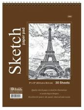 "30 Sheets 9"" X 12"" Top Bound Spiral Premium Sketch Book Paper Pad"