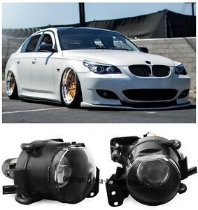 For 04-11 BMW E60 5-Series E90 3-Series M3 M5 Style Front Projector Fog Lights