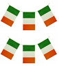 Ireland Flag Bunting - 4M 11 Flags St Patrick's Day Irish Celebration Decoration