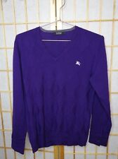 BURBERRY BLACK LABEL (JAPAN) EXCLUSIVE AUTHENTIC V-NECK WOOL PURPLE SWEATER SZ 2