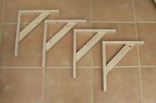"Wooden Shelf Brackets x 4 (Ideal for 12"" - 13"" Shelving)"