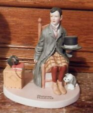 1980 Norman Rockwell Figurine -Self-Portrait- 04/18/1925 Saturday Evg Pos