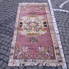"""Vintage Turkish Kilim Runner,  34.2"""" x 69"""" Handwoven Corridor Rug, 3x6.5 feet"""