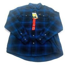 Orvis Men's Big Bear Heavy Flannel Shirt Night Blue Plaid Medium NWT