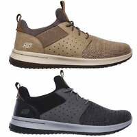 Skechers DELSON CAMBEN Mens Mesh Memory Foam Lace Up Slip On Sports Trainers