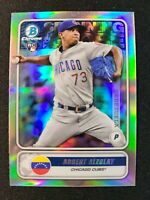 L66 2020 BOWMAN CHROME SPANNING GLOBE ADBERT ALZOLAY RC CHICAGO CUBS  REFRACTOR