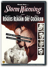 Storm Warning DVD New Ginger Rogers Doris Day Steve Cochran Ronald Reagan