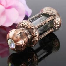 3ml Copper Vintage Empty Glass Dropper Essential Oil Perfume Bottle Lady Gift