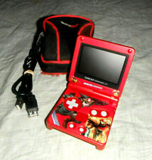 Gameboy Advance Sp Rubí Rojo Metálico/Nintendo Sistema AGS-001 Paquete