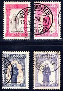 AZOREN 1895 82, 85, 87, 89 gestempelt HÖCHSTWERTE 360€++(M1278