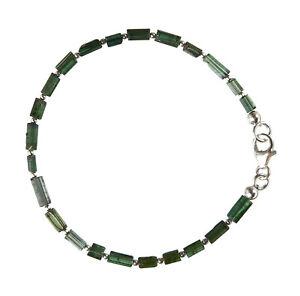Turmalin grün Armband 925 Silber Armkette Z288