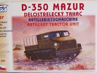 SDV Kunststoff Modellbausatz 1:87 H0 D-350 Mazur Artilleriezugmaschine